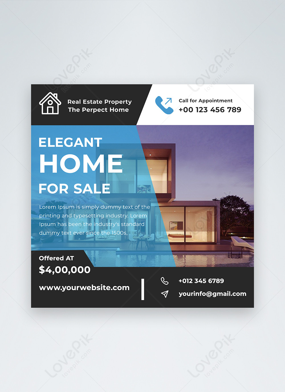 Modern Real Estate Sale Facebook Banner Post Template Image Picture Free Download 450003217 Lovepik Com