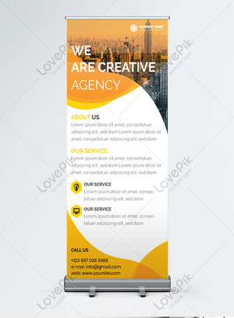 modern marketing agency promotion roll up banner Templates