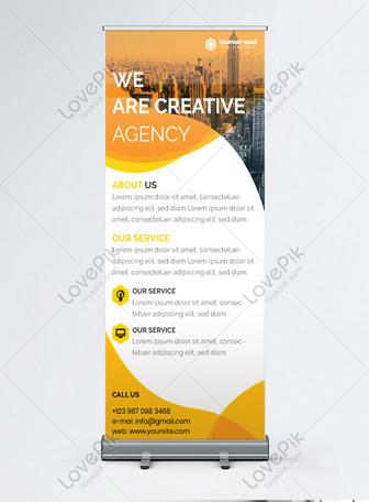 promoção de agência de marketing moderna arregaçar banner Modelos