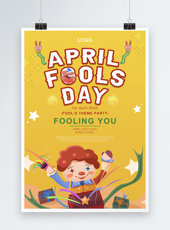 Cartel de fiesta de celebración del día de los inocentes de dibu Plantillas