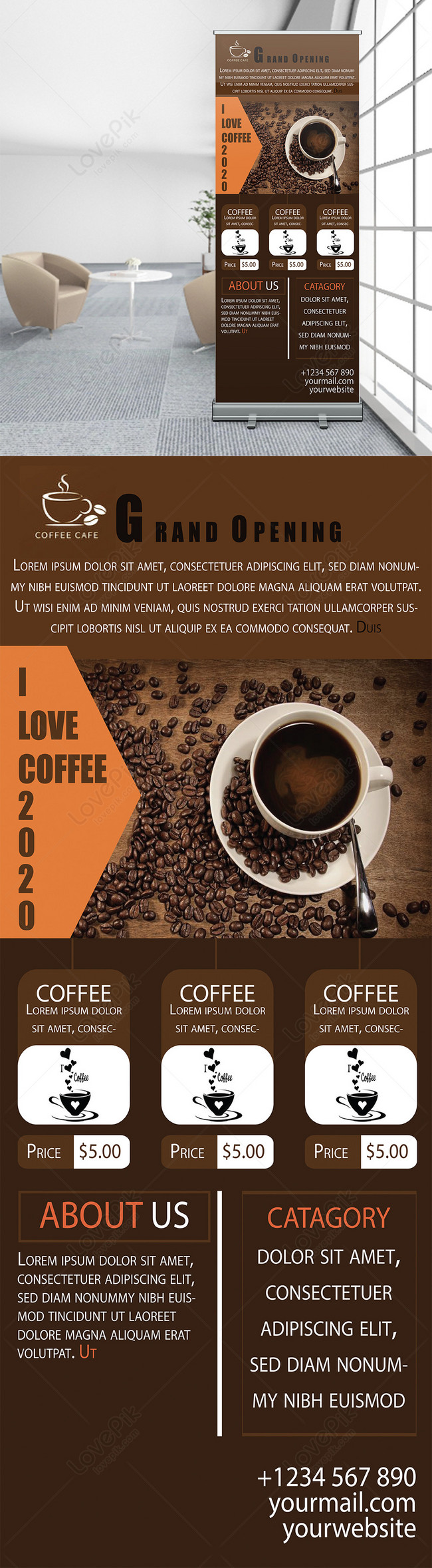 Coffee Shop Roll Up Banner Template Image Picture Free Download 450003691 Lovepik Com
