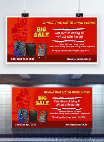treo kings lễ hội vali bán biển quảng cáo Mẫu