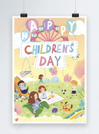 Affiche de la journée des enfants heureux Modèles