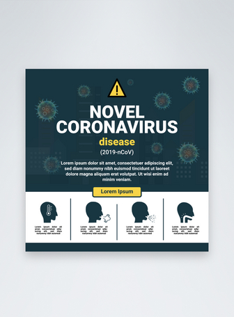 Post de mídia social do Covid19 Corona Virus Modelos