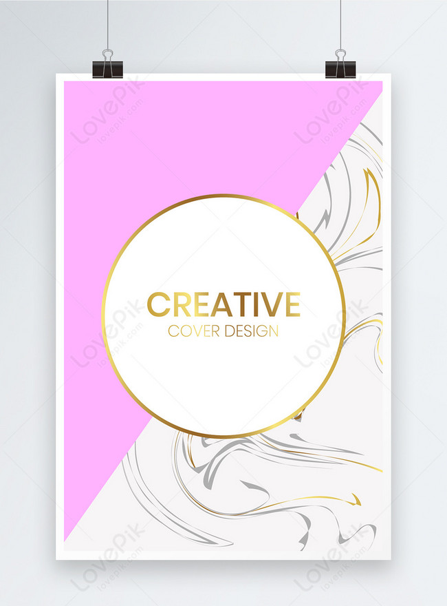 pink and white poster background