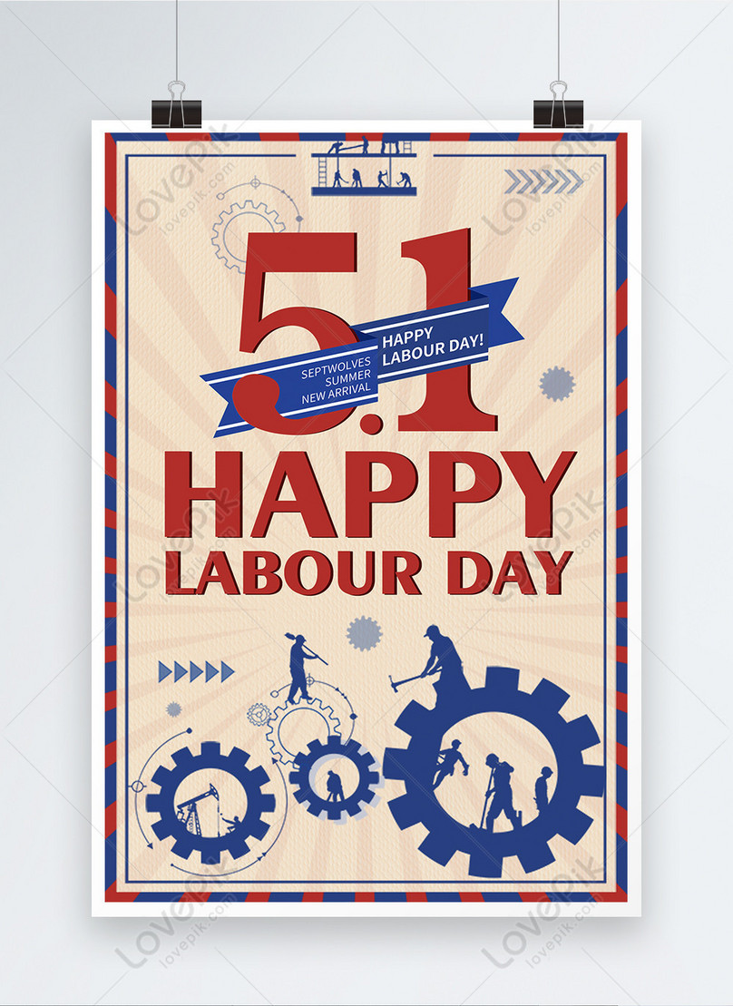 happy labor day may 1 poster