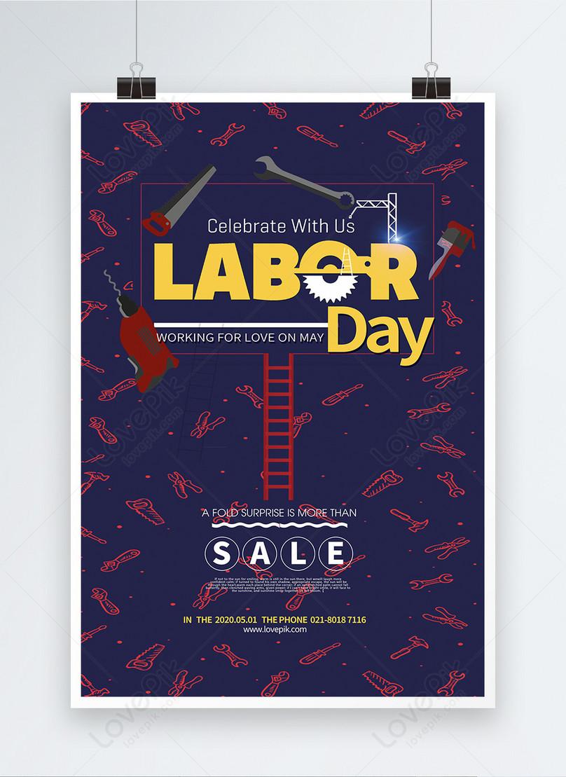 labor day celebration sale poster