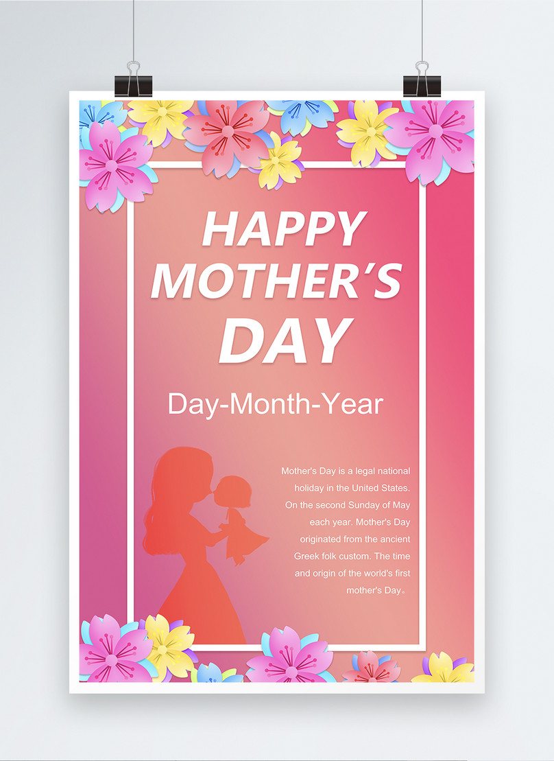 happy mothers day wishes poster