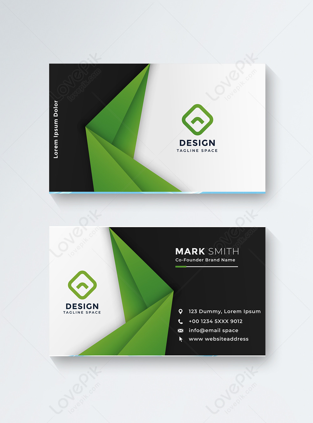 Black and green business card template image_picture free download  450007582_lovepik.com