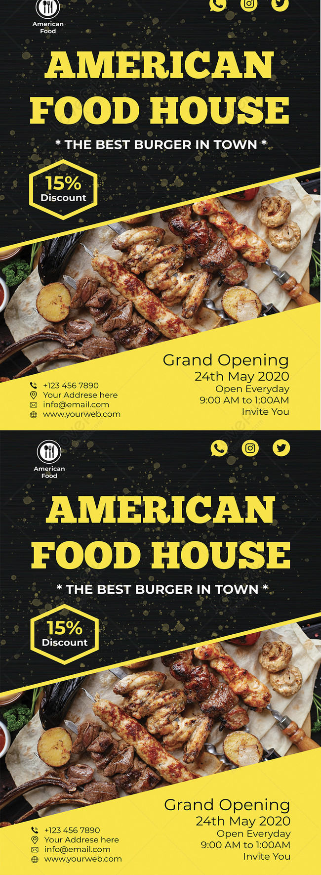 American Food House Restaurant Flyer Template Image Picture Free Download 450009002 Lovepik Com