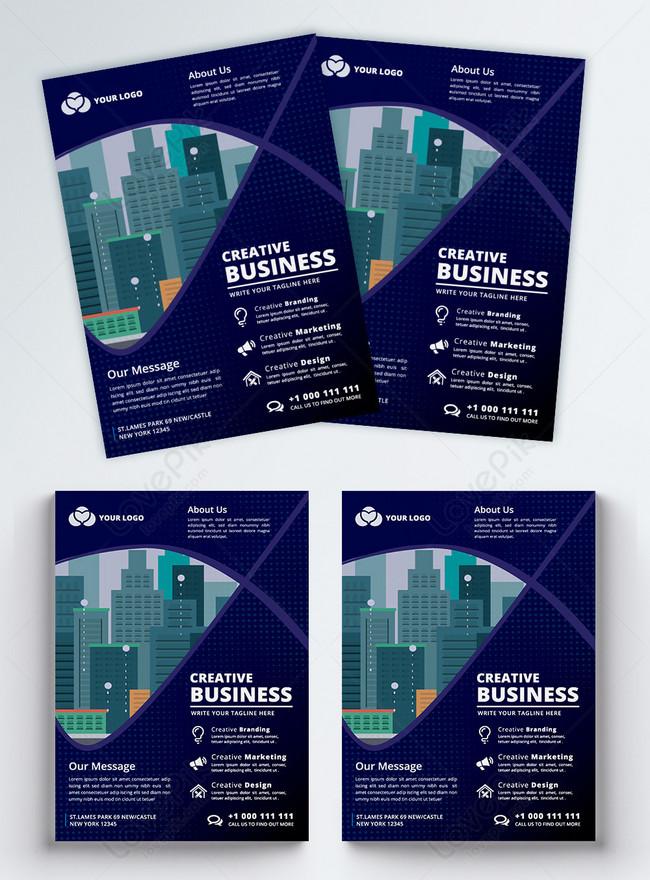 modern blue corporate business flyer