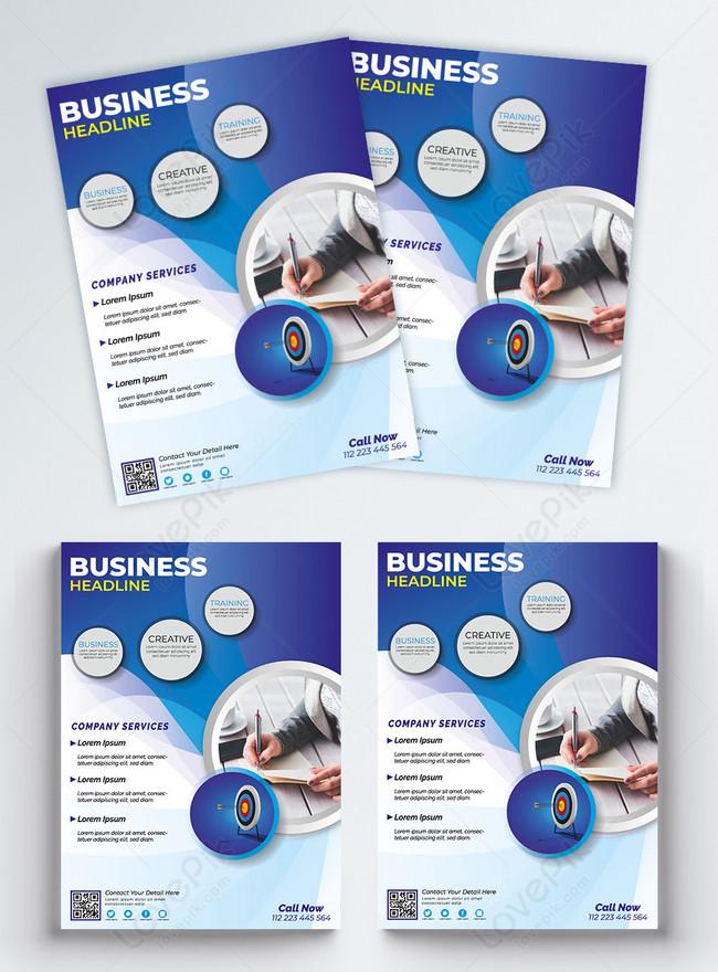 modern company business flyer