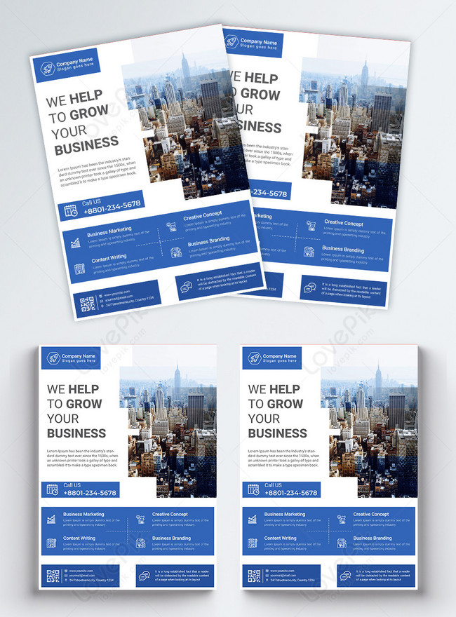 creative blue corporate business flyer
