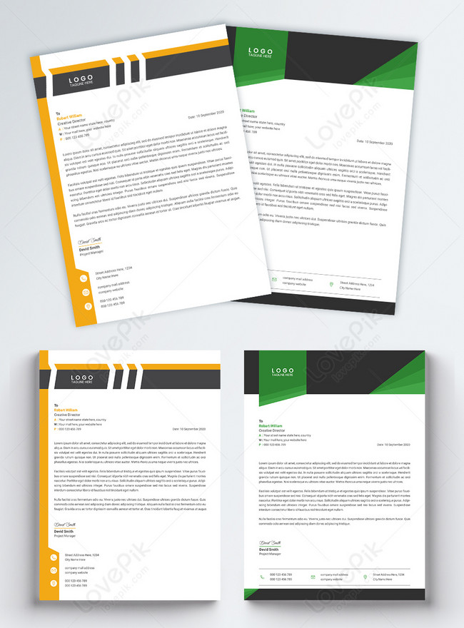 professional corporate business letterhead