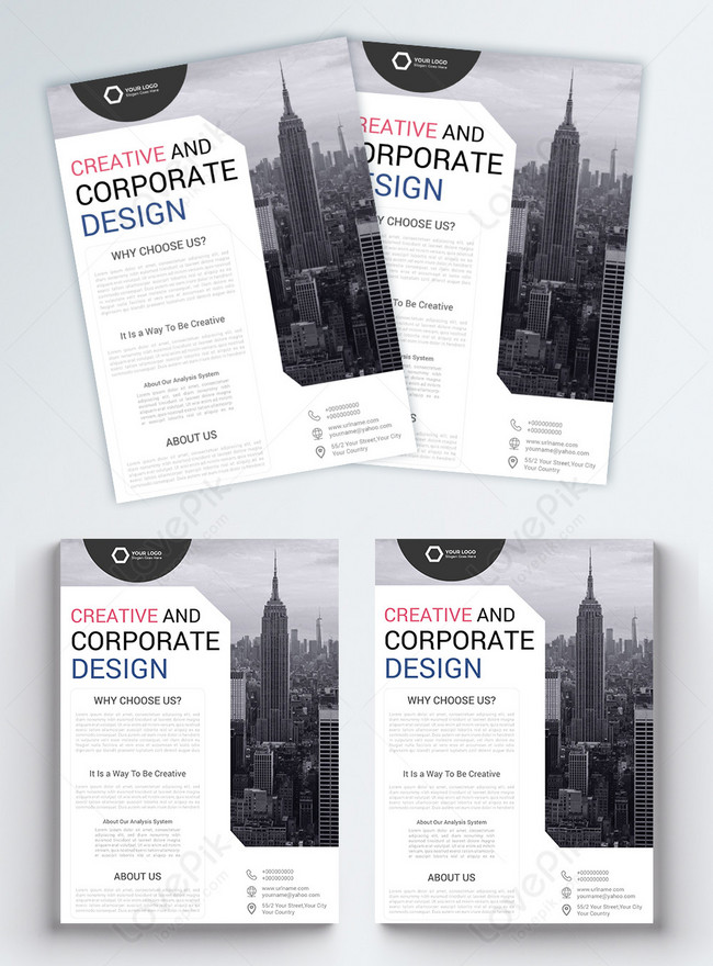 latest company business flyer