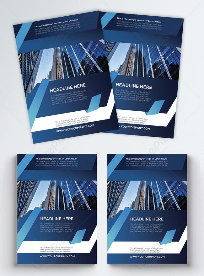 modern blue corporate flyer