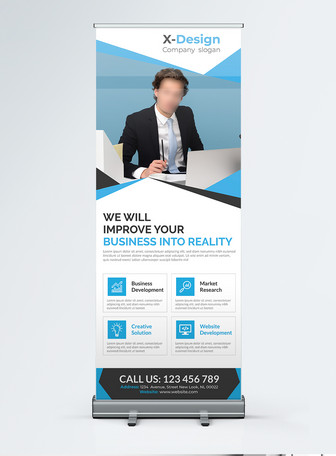 concise modern Corporate business Roll Up Banner  Templates