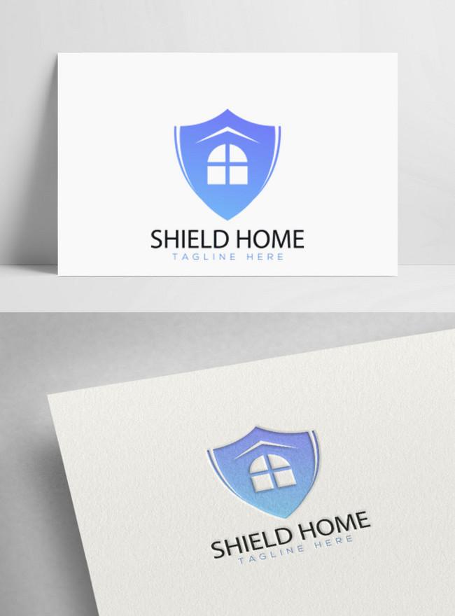 simple shield home logo