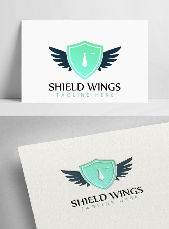 creative shield wings logo