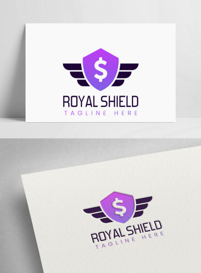 simple royal shield logo