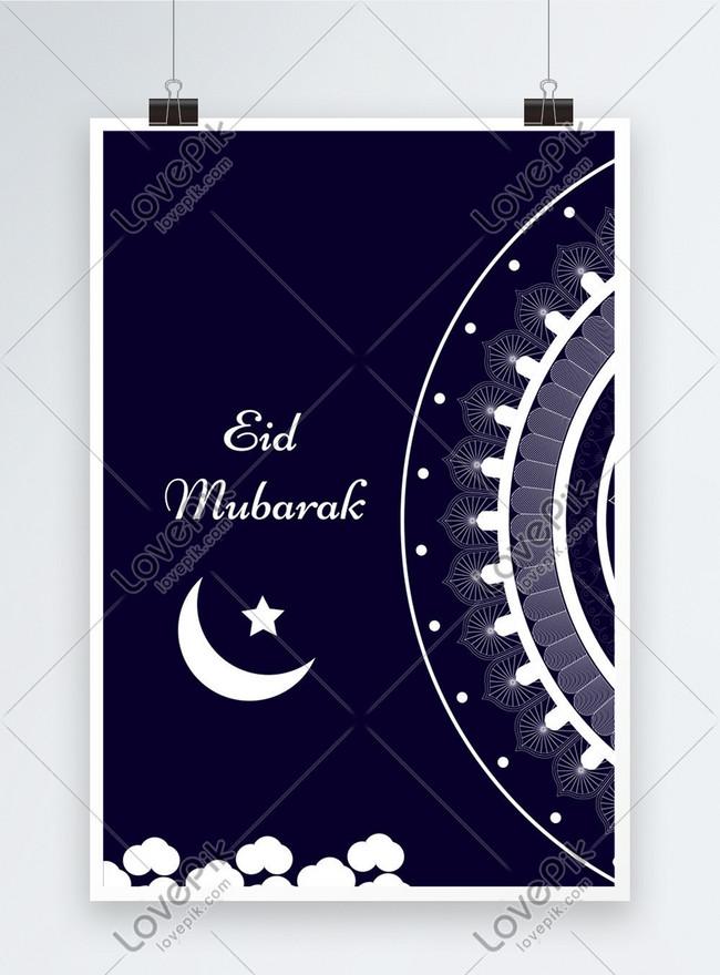 eid mubarak creative poster background