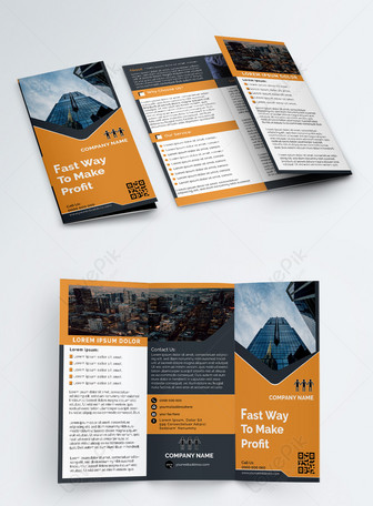 El último folleto tríptico corporativo creativo Plantillas