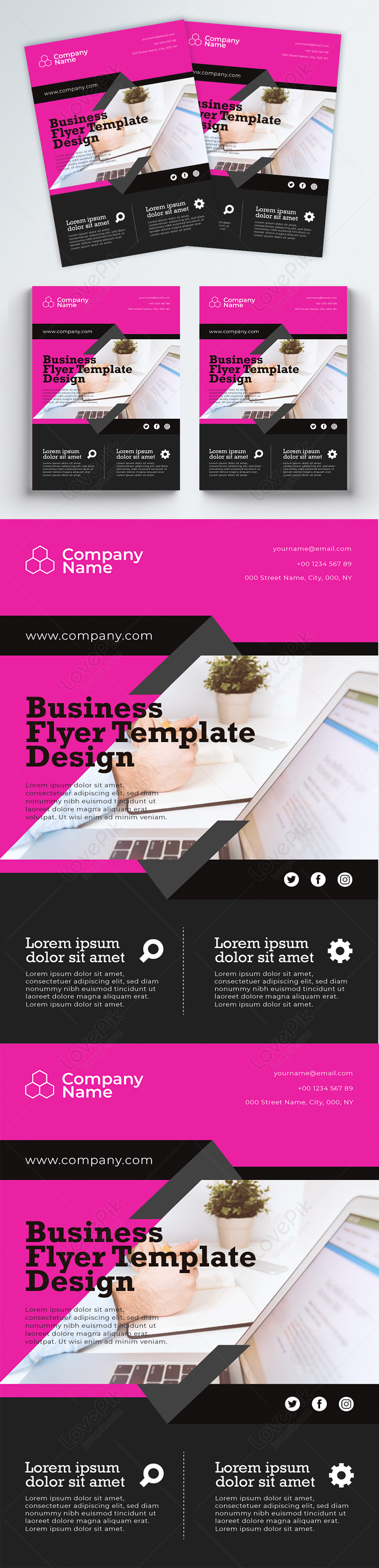 Company Flyer Template from img.lovepik.com