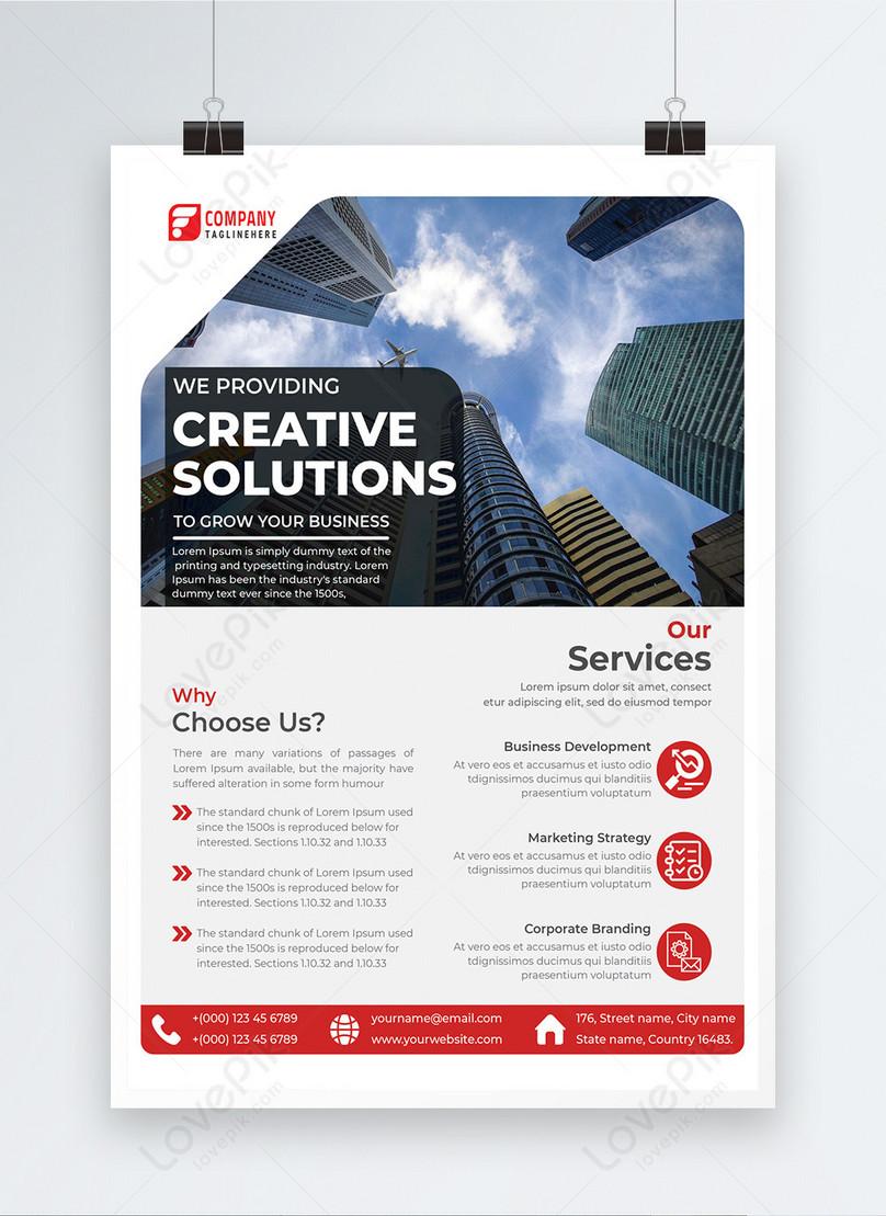 modern marketing company business poster