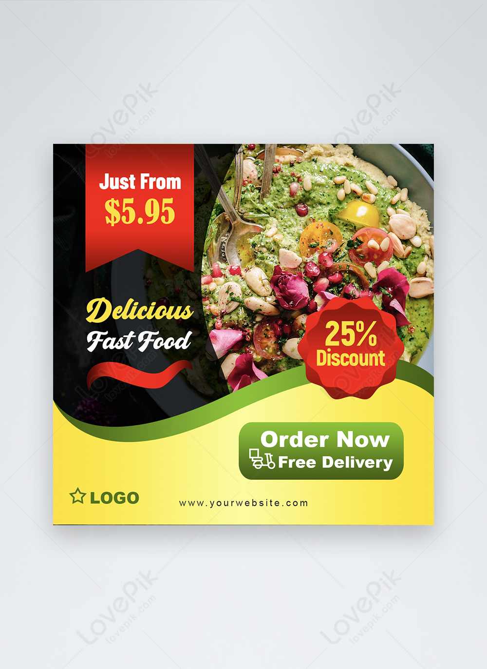 Healthy Food Restaurant Discount Social Media Post Template Image Picture Free Download 450014499 Lovepik Com