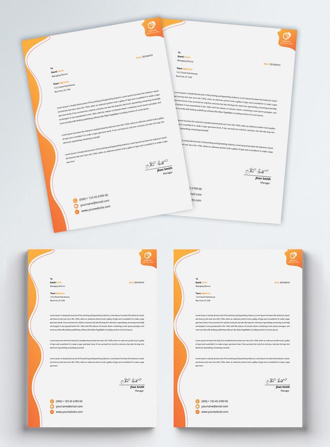 creative professional corporate letterhead