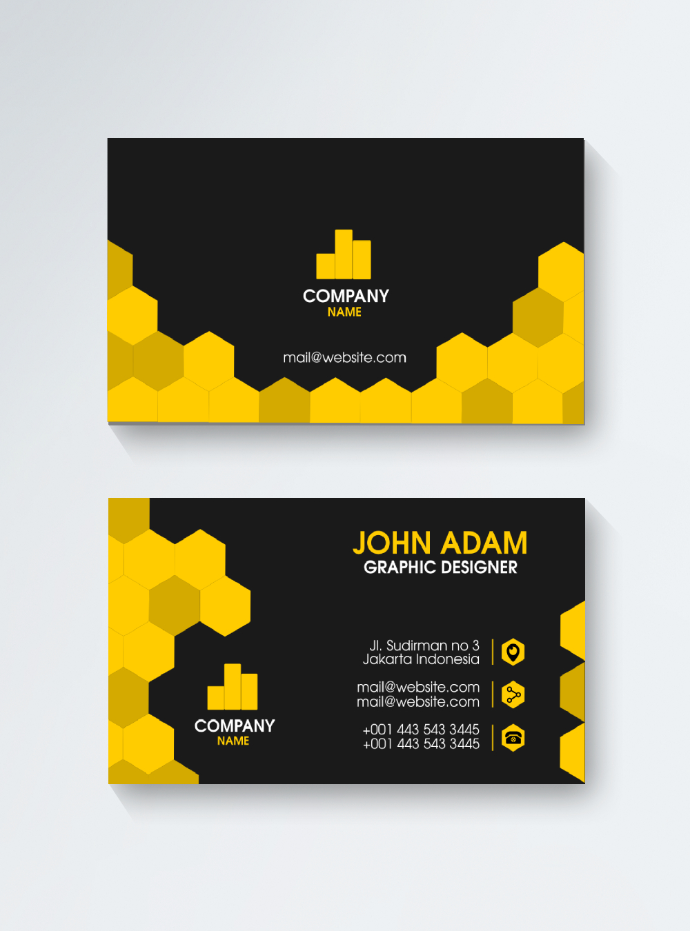 Abstract beehive business card template image_picture free