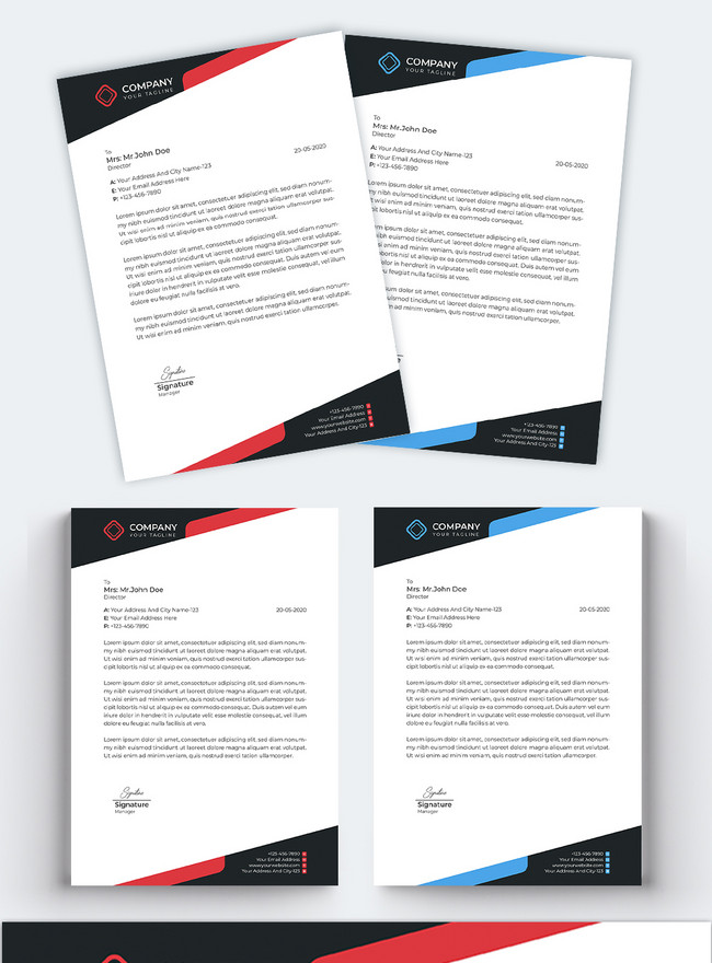 concise professional business letterhead