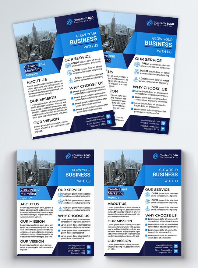 creative blue corporate business flyer