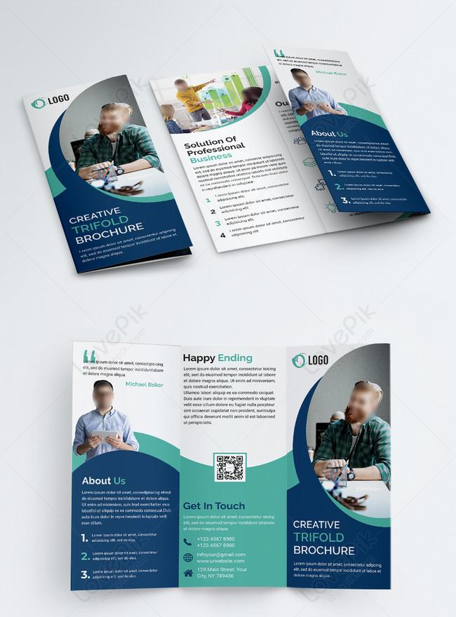 elegant latest company business trifold brochure
