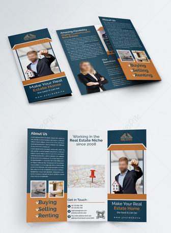 Brosur Trifold Real Estate profesional profesional Templat