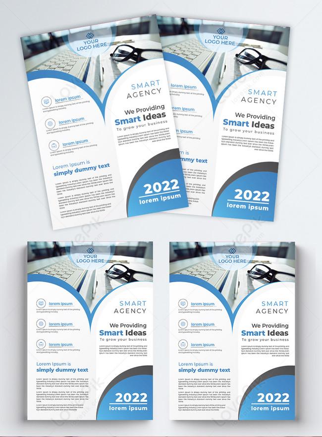 latest modern company business flyer