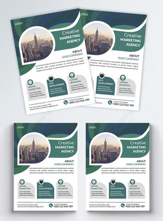 green Creative Business flyer Templates