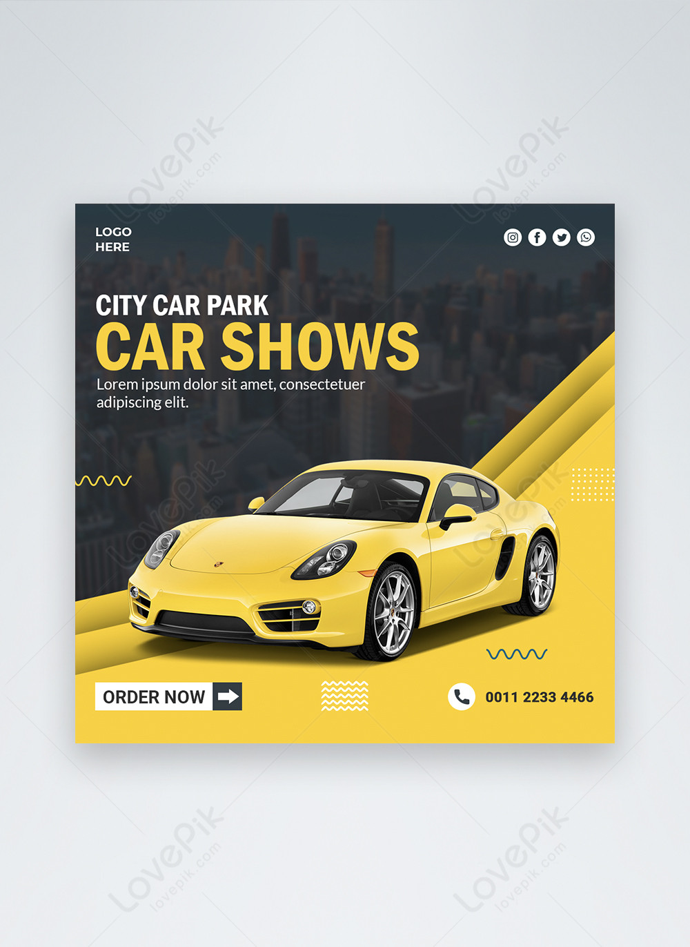 Blue Luxury Buiness Style Car Social Media Post Template Image Picture Free Download 450033356 Lovepik Com