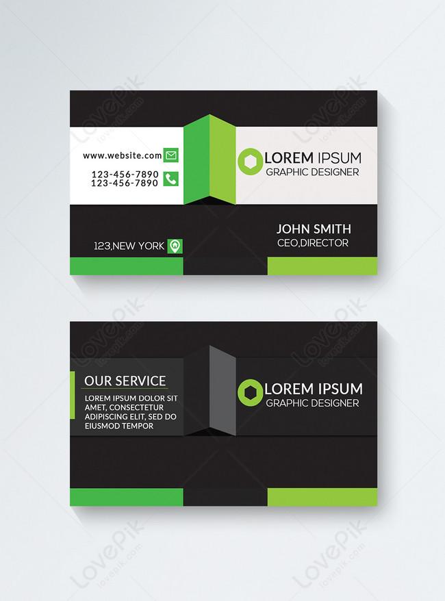 outstanding modern business card