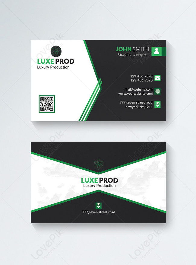 concise modern business card