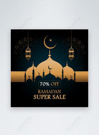 Ramadan Kareem Rabatt Sale Social Media Post oder Web Ad Templat Vorlagen
