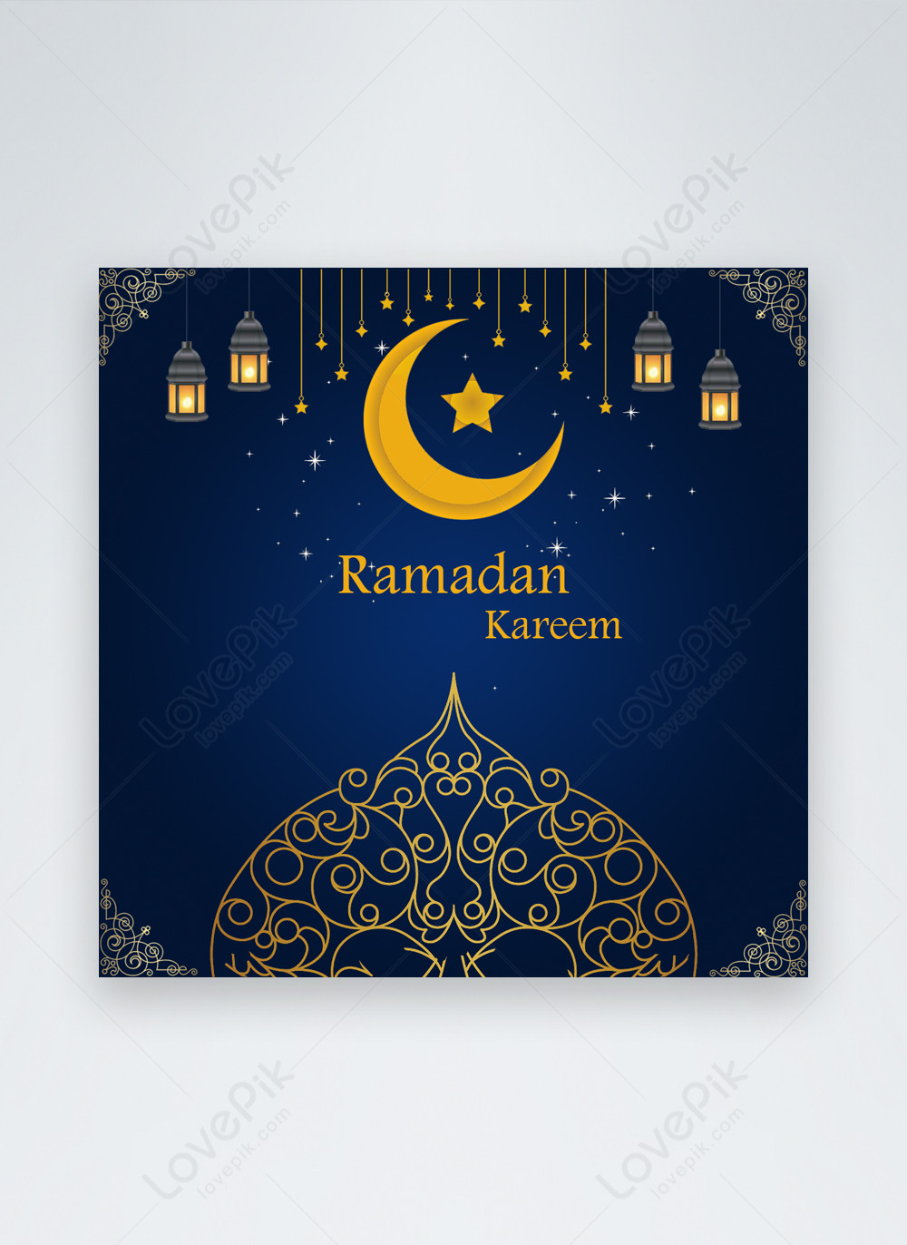 Blue Ramadhan Kareem Media Media Sosial Gambar Unduh Gratis Templat 450067969 Format Gambar Psd Lovepik Com