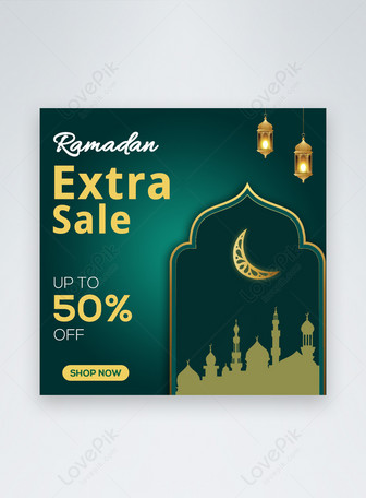 Ramadan Kareem Sale Media Sosial Pos Media Templat