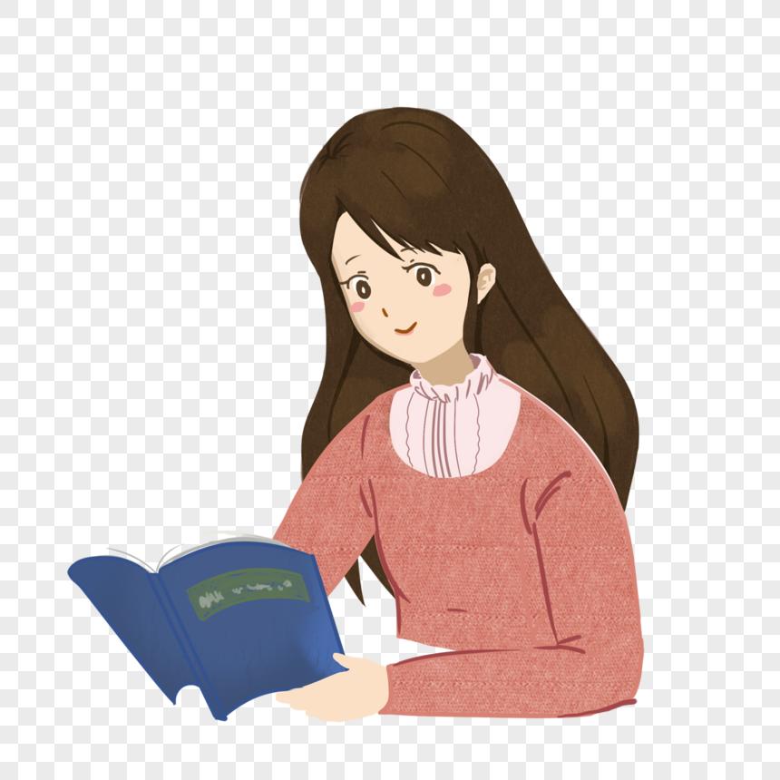 فتاة محجبة تقرأ كتاب
