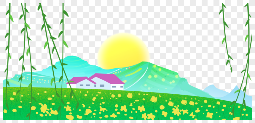 spring scenery png