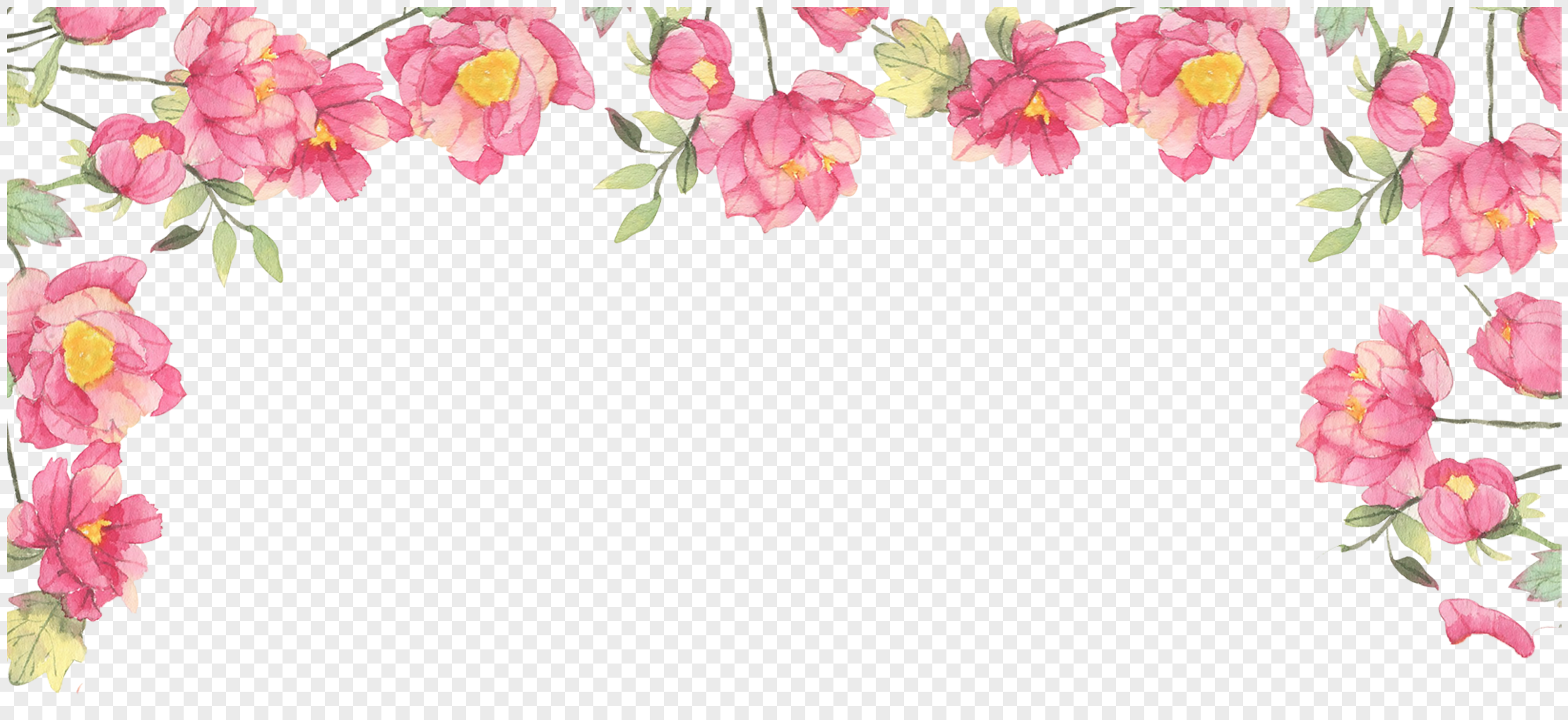 floral border background png image picture free download