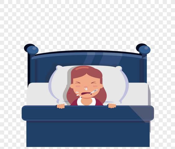 Bilder Zum Krankes Madchen Das Im Bett Liegt Download Grafik
