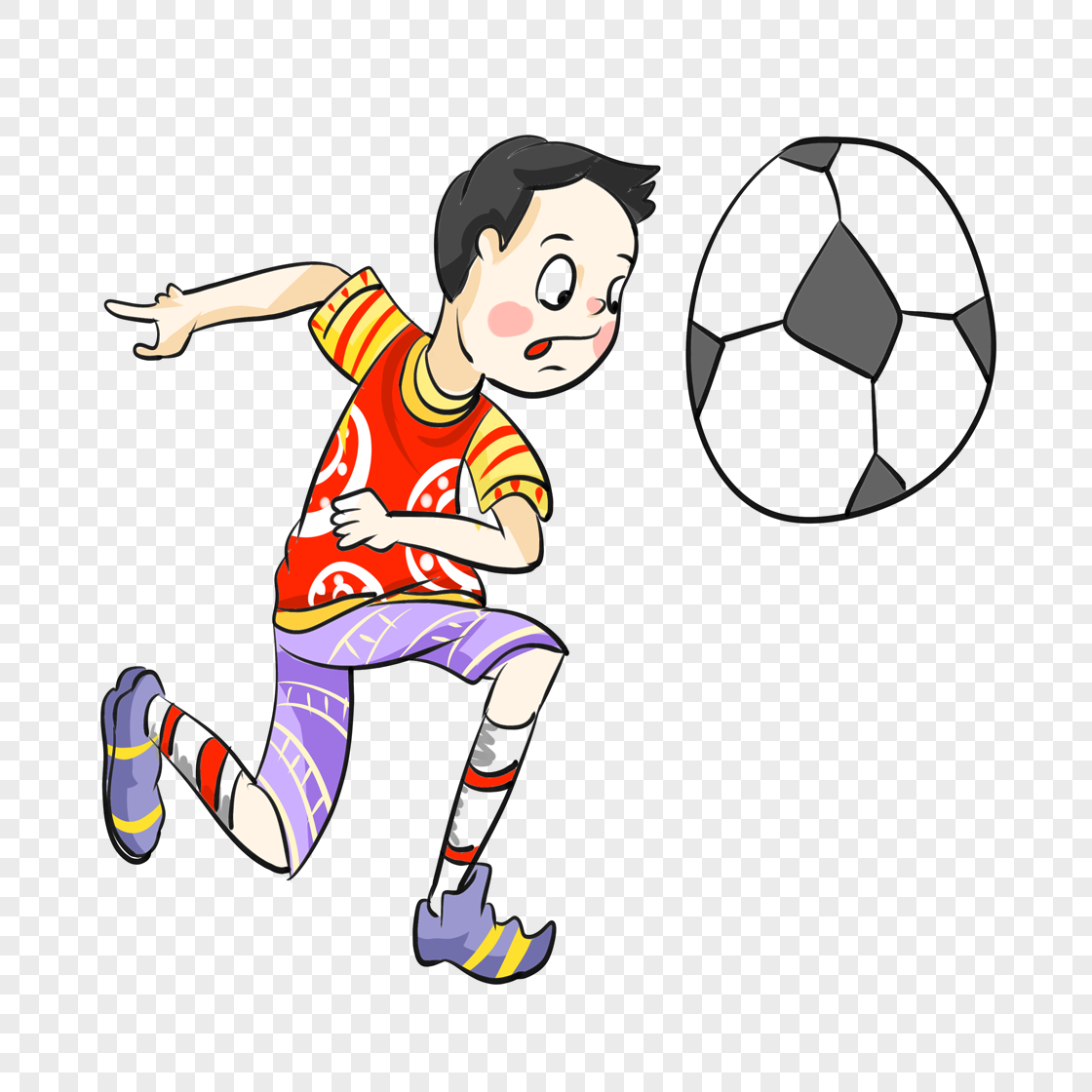 kicking a football boy png image picture free download
