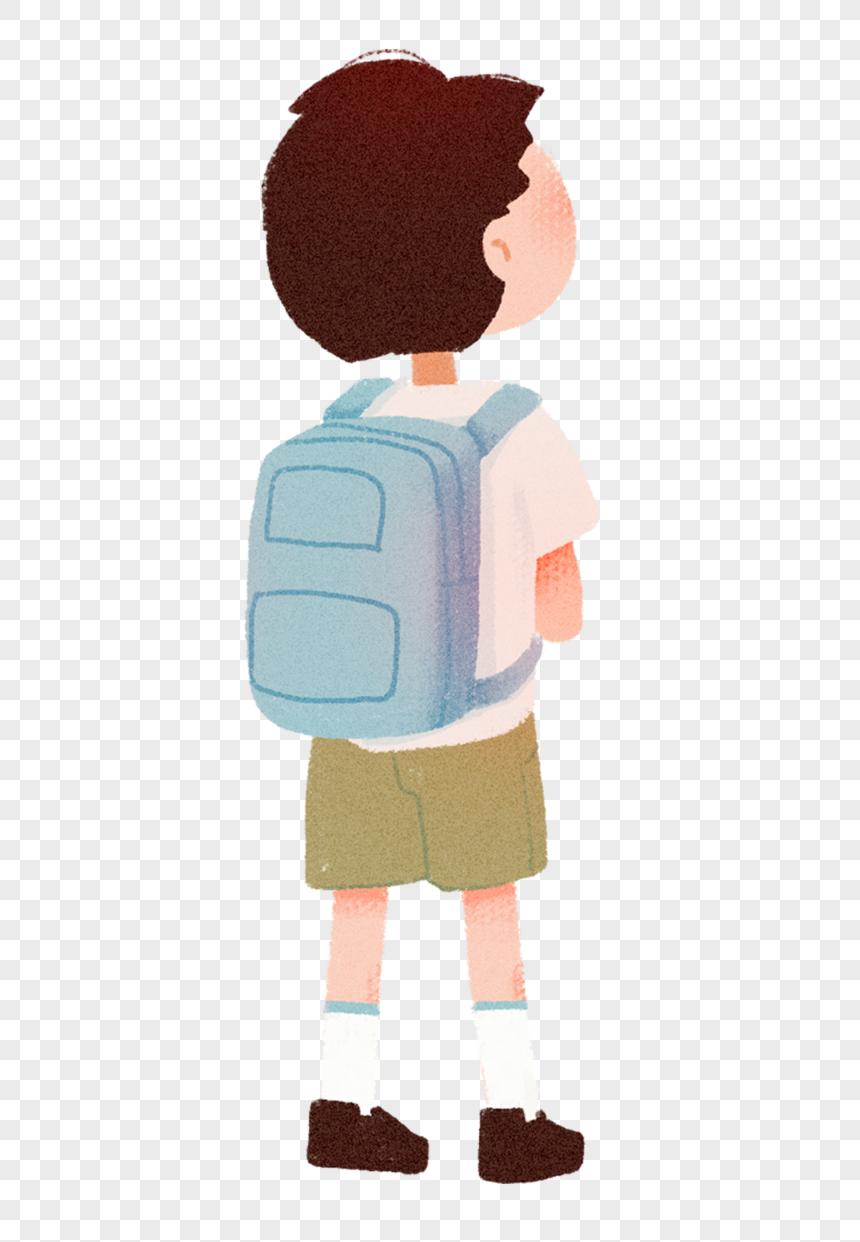 картинка ученика с рюкзаком гараж