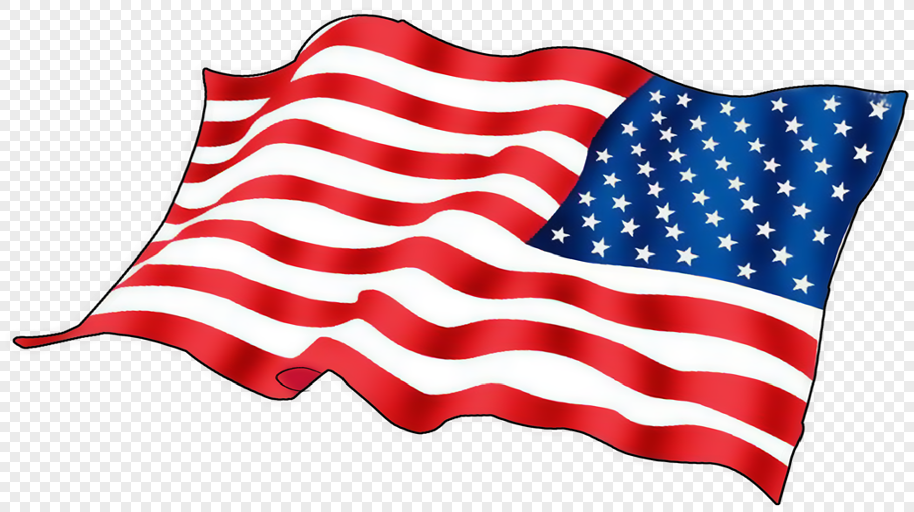 hand painted american flag png image picture free download